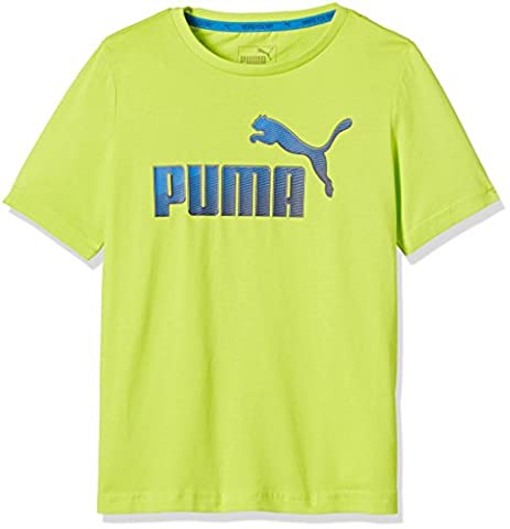 Puma Hero T-Shirt Garçon Limepunch FR : 14 ans (Taille Fabricant : 164)