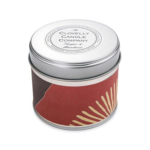 Clovelly Candle Co. Natürliche Handgefertigte Duftende große Dosenkerze Mandarine & Ingwer aus Sojawachs