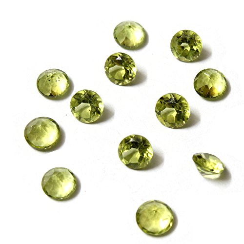 Be You Vert clair Couleur Naturelle Chinois Péridot AA Qualité 5 mm Taille Facettes Rond Forme Pierres précieuses en Vrac 10 Pièces