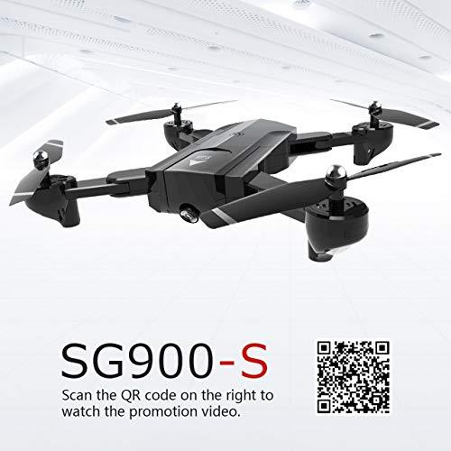 Jasnyfall Sg900-s 2,4g rc Drone Faltbare Selfie smart GPS FPV Quadcopter mit 720 p hd Kamera höhe hold Follow me one Key Return (schwarz)