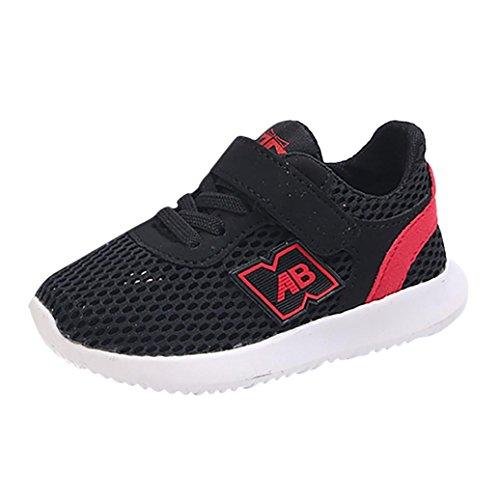 a84263ac469b2 OHQ Enfants GarçOns Et Filles D éTé Lettres Simples Net Sport Chaussures  Casual Shoes Noir
