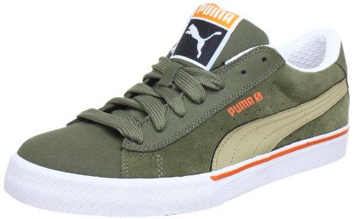 Puma S Basse Ville 353850, Sneaker Uomo Verde (grün (olive-varech-blanc Brûlé 08))