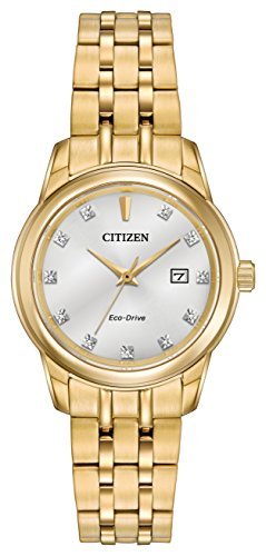 Citizen Watch Women's Analogue Solar Powered Stainless Steel Strap EW2392-54A