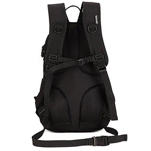 Imagen de hombre mujer bolsa de asalto táctico militar al aire libre  de acampada ciclismo sendemismo bolsa  20l, negro alternativa