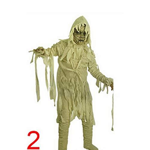 ERFD&GRF 1 Stücke Erwachsene Halloween Kostüme Zombie Mummy Cosplay Kleidung Spooky Kostüm, Kid Mummy, - Spooky Kids Kostüm