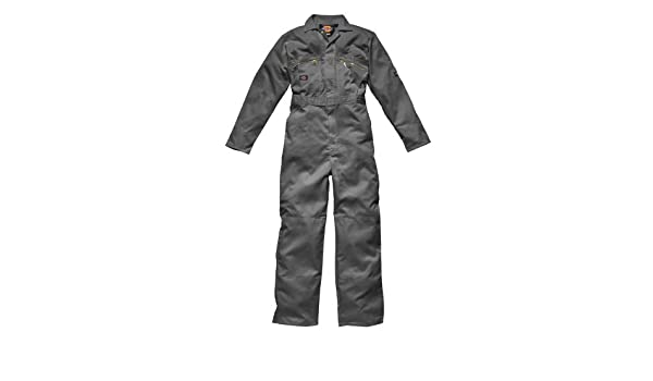 Dickies WD4839 Zip Overalls Coveralls Boilersuit Grey Tall