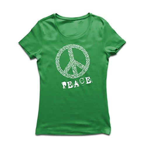ENSsymbol - 1960er Jahre 1970er Jahre Hippie Hippie, Street-Kleidung, Friedenszeichen, Sommer Festival Hipster Swag (Large Grün Mehrfarben) (Sein Und Ihrs Halloween Kostüme Billig)