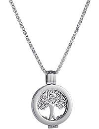 U&D Coins 25mm Edelstahl Schmuck Kette Silber Halskette Anhänger Lebensbaum Coin Small