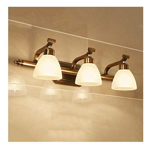 ,Spiegelleuchte Spiegelfrontleuchte LED Bad Wasserdicht Badezimmerspiegel Scheinwerfer Einfache Wandleuchte Imitation Kupferspiegel Scheinwerfer .Spiegellicht (Size : 60cm)