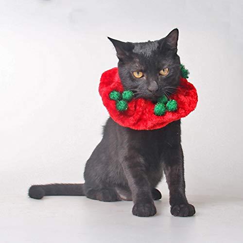 Kostüm Dress Up Keinen - Amosfun 1pc Christmas Adorable Cat Collar Party Kostüm Outfit Dress Up Accessory für Pudel Chihuahua Papillon