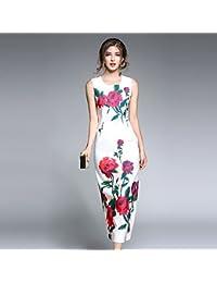 JIALELE Partido de la mujer saliendo diariamente Chic Vintage sofisticada calle Bodycon vestido floral de Midi