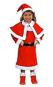 Atosa-69208 Atosa-69208-Disfraz Mamá Noel niña infantil-talla 7 a 9 años rojo-Navidad, color (69208)