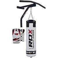 RDX Boxe Pelle 5FT Sacchi Pugilato MMA Pieno Sacco Terra Base Allenamento Barra Trazioni