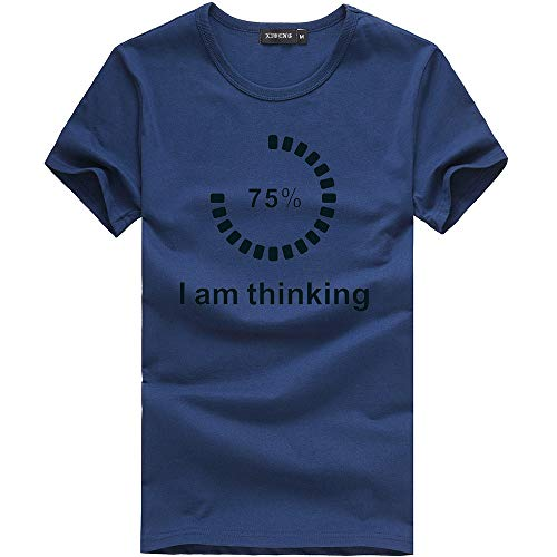 Preisvergleich Produktbild WWricotta Unisex Printing Tees Shirt Short Sleeve T Shirt Blouse (Marine,L)