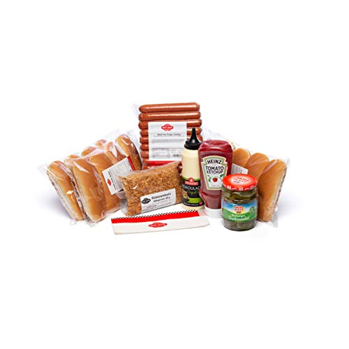 HOT DOG WORLD -BEEF Hot Dog Party-Paket 12 Stück