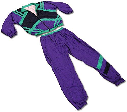 tswear 80er Jahre Trainingsanzug 80s Retro Jogginganzug Kleidung Karneval Kostüm (Größe S) (Die 1980er Jahre Kostüme)