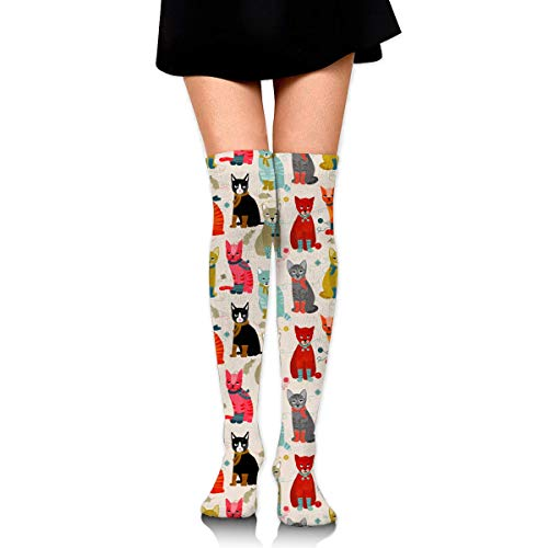 CVDGSAD Knee High Socks Cat Ladies Long Socks Boot Stocking Compression Socks for Women