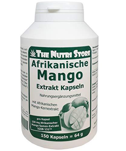 Afrikanische Mango Extrakt 150 mg Kapsel - 150 Stk. - Pro Kapsel 150mg Afrikanischer Mango-Samen-Extrakt  IGOB 131TM -