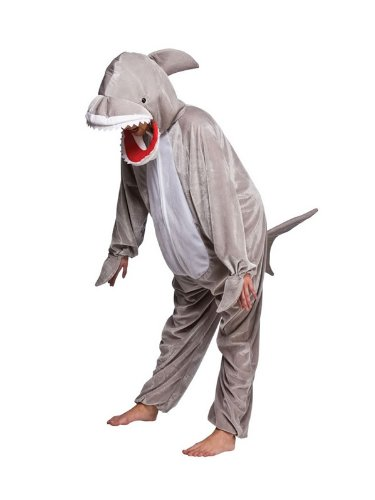 Shark mit offenen Mund Tier Kostüm Halloween Kostüm Outfit - XL - 146/158CM (Tier Themen Fancy Dress Kostüme)