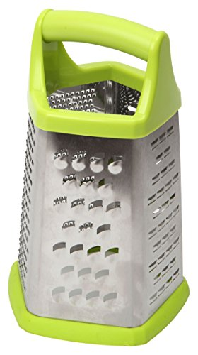 Dexam 13 x 12 x 21 cm Stainless Steel 5-Sided Grater, Silver