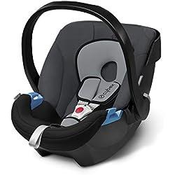 Cybex Silver - Portabebé Aton, en contra de la marcha, incluye reductor para recién nacido, desde el nacimiento hasta aprox. 18 meses, max. 13 kg, cobblestone