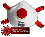 10x Atemschutz Staubschutzmaske Maske mit Ventil FFP3