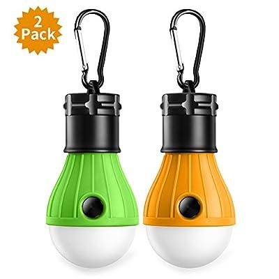 2 Stücke Tragbare LED-Campinglampe mit Haken, Zeltlampe Notlicht3 * Q5 Leuchtmittel für Camping, Wandern, Angeln, Jagen, Bergsteigen und andere Outdoor-Aktivitäten