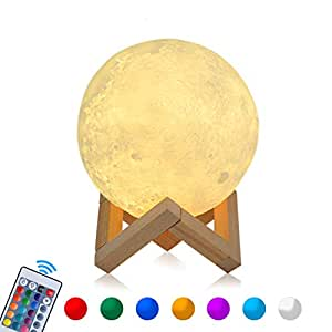 15cm rgb mond lampe led moon lampe cosansys nachtlicht dimmbare touch nachtlampe tragbares. Black Bedroom Furniture Sets. Home Design Ideas