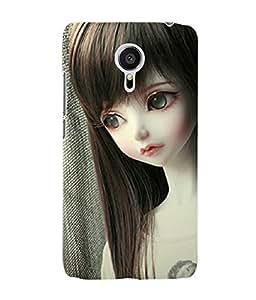 Fuson 3D Printed Cute Doll Designer Back Case Cover for Meizu MX5 - D721