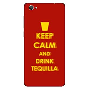 Bhishoom Designer Printed Back Case Cover for Vivo X5Pro, VivoX5Pro (Keep Calm And Drink Tequila Typography)