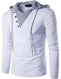 Camisetas con Capucha para Hombre Camisetas sin Mangas con Capucha y Manga Larga