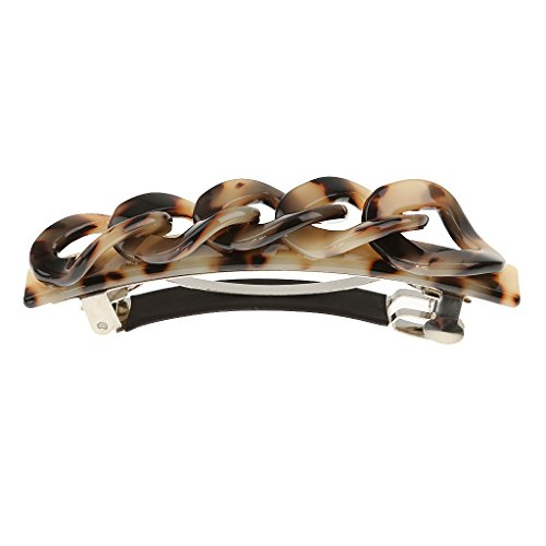 Mode Acryl Leopard Haarklammer Pin Haarspange Haarclips Barrette Schmuck - Hellbraun