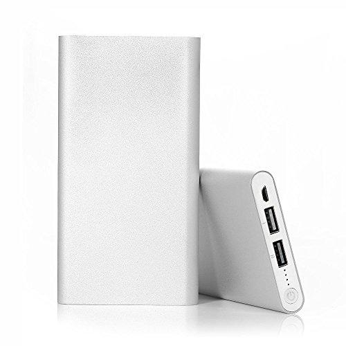 EPOWER 20000mah Silber Power Bank Extern Akku Tragbares USB Ladegerät Universal Zusatzakku