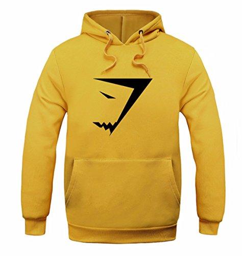 Men's Fashion Shark Sweatshirts Casual Sweatshirts yellow