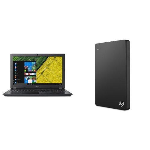 Acer Aspire 15.6-Inch Notebook (Intel Core i3-6006U, 4 GB RAM, 128 GB SSD, Intel HD Graphics 520, Windows 10 Home) + 2TB Seagate Backup Plus Slim External Hard Drive