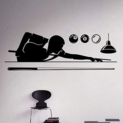Wandsticker 123X42cm billiard Pool Wall Decal Poolroom Sport Art Decor Home Interior Removable Posters On The Wall Wallpaper
