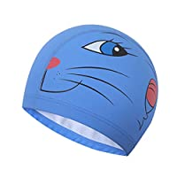 Dapei Seamless Children Kids Boy Girl Cartoon Swim Waterproof Swimming Cap Sports Hat (a)