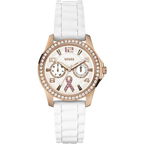 Ladies Guess Sparkling Pink Watch W0032L3