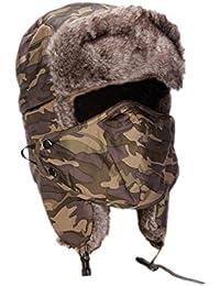 EOZY Unisex Sport Outdoor Wasserdicht Fellmütze Hat mit Mundschutz Winter