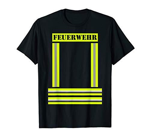 Jung Mädchen Feuerwehrmann Kostüm T-shirt (Feuerwehrmann Kostüme Damen)