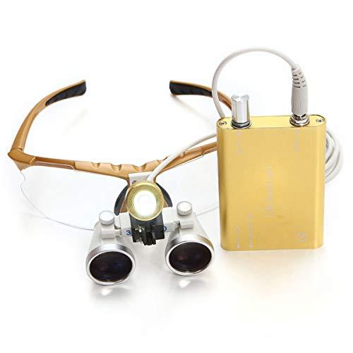 Magnifier 3.5X Lupas Binoculares Quirúrgicas Portátiles De Vidrio Óptico con Cabeza Lámpara De Luz Led Dentista Dental Quirúrgico Fauay