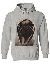 Pug Life Grumpy Gangster Dog Funny Novelty Black Men Women Unisex Hooded Sweatshirt Hoodie