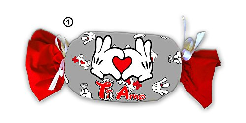 Caramellona cuscino, grigia con mani che formano un cuore, ideale per san valentino, un singolo pezzo