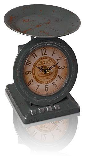 Antiguo nuestros chiccie-Báscula con reloj parece de, como podido imaginar lo levantas en el último mercado de antigüedades ergattert o de tu abuela. la segunda vista se descubre, que incluso un reloj con integrado se ha heredado la pequeña esfera ...