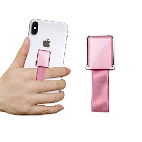 ProtectPax Smartphone Fingerhalter mit Halter Griff Handyhalter Handy Halterung Einhandbedienung für iPhone Samsung Sony LG Huawei uvm. - Finger-ring Lichter