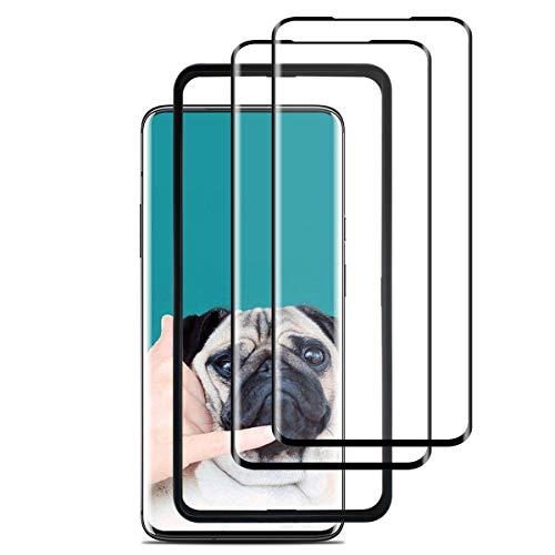 FALOOM Oneplus 7 Pro Bildschirmschutzfolie [3 Stück], 3D volle Abdeckung, Kratzfest, blasenfrei, nass aufgetragene Folie für Oneplus 7 Pro