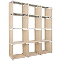 Azadx 12 Cube 4-Tier Storage Closet Organization System, DIY BookShelf Cabinet for Kids Room, living room, bedroom, Office