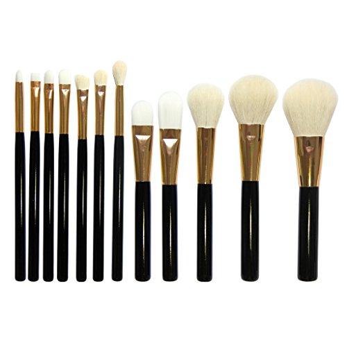 Set de 12pcs Pinceaux de Maquillage pour Fond de Teint Fard à Paupières Lèvres Nez