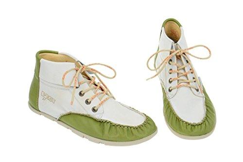 Eject flying chaussures-blanc/vert-été chaussures pour femme avec cuir souple Blanc - Blanc