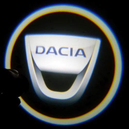 Aokairuisi Kit Logo Proiettore Luci LED CREE Cortesia sottoporta Dacia Duster Sandero 5W 12V Universale